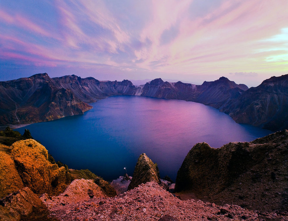 Небесне озеро, Північна Корея, Китай