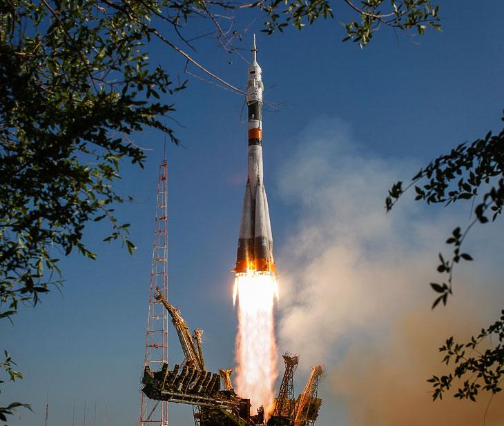 Старт космического корабля «Союз ТМА-04М с Байконура