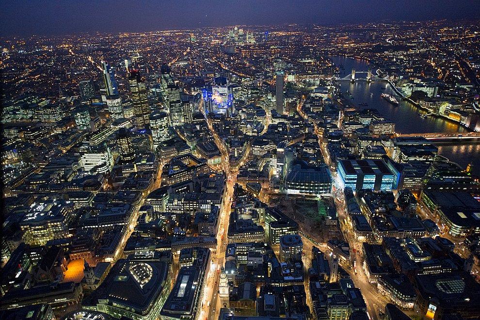 Лондонский Сити и река Темза