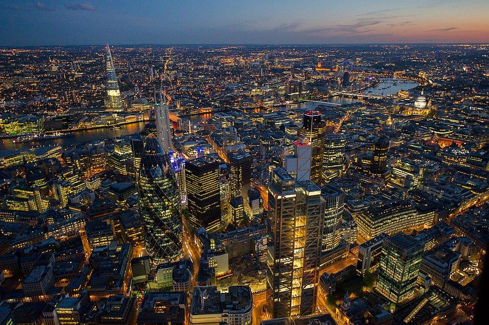 Лондонский Сити и небоскребы