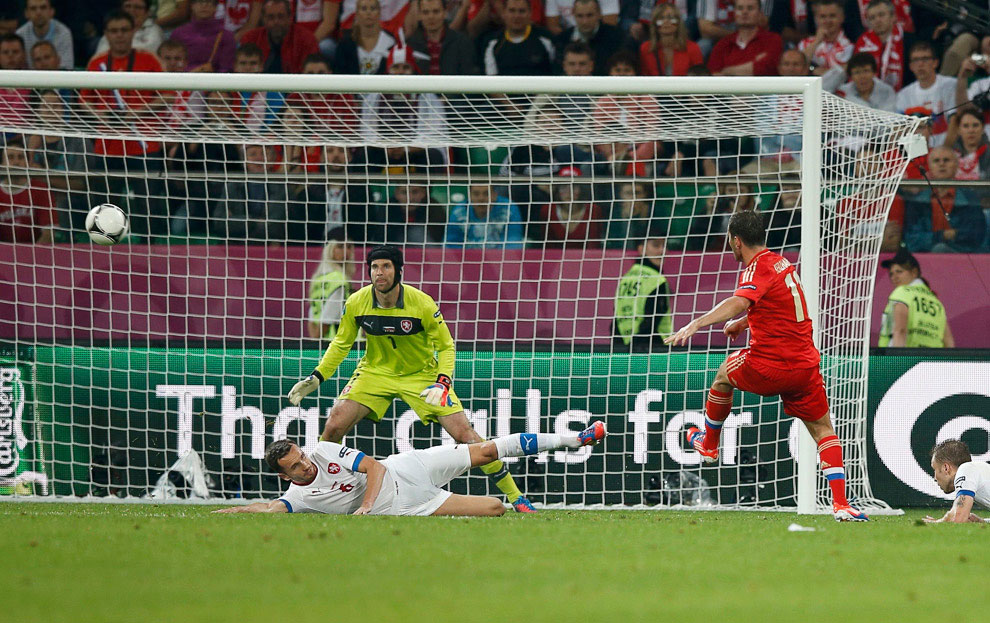 Евро-2012: матч Россия—Чехия