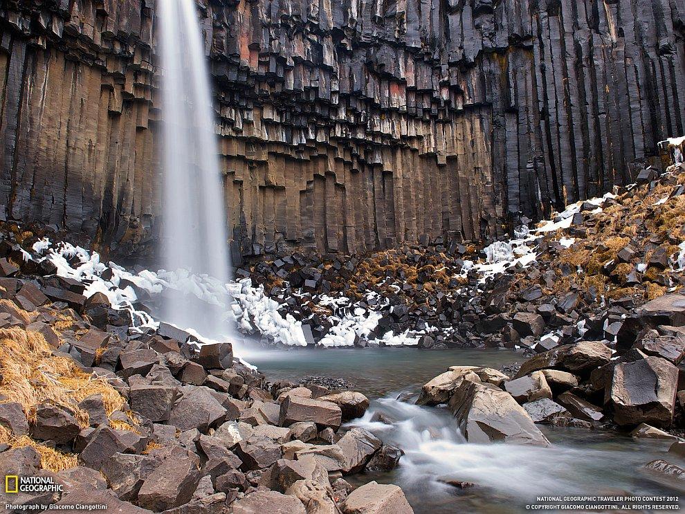 Черный водопад, Исландия