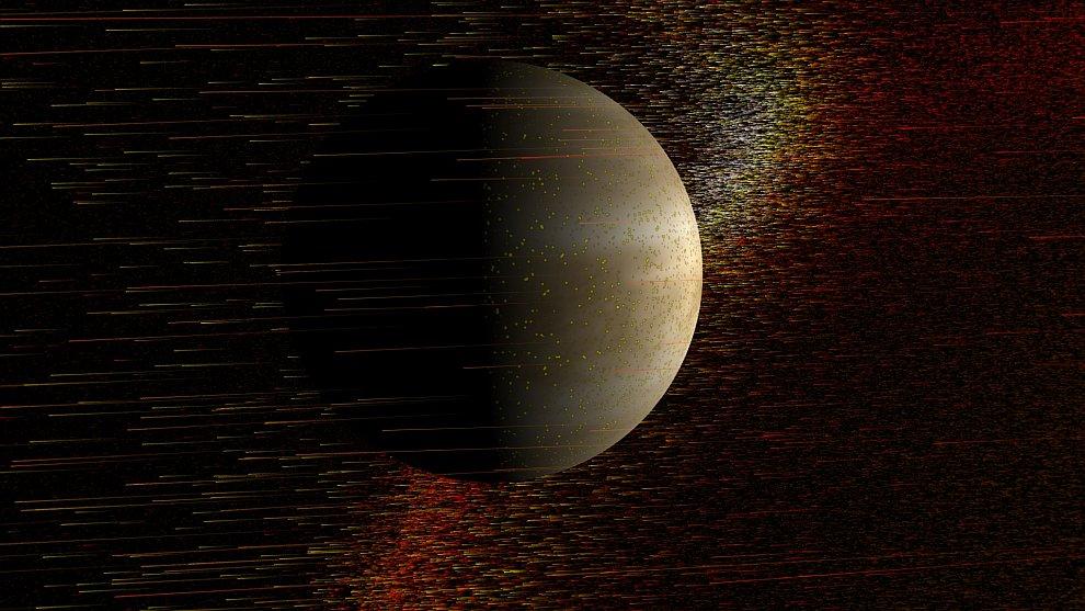 Венера и вспышка на Солнце