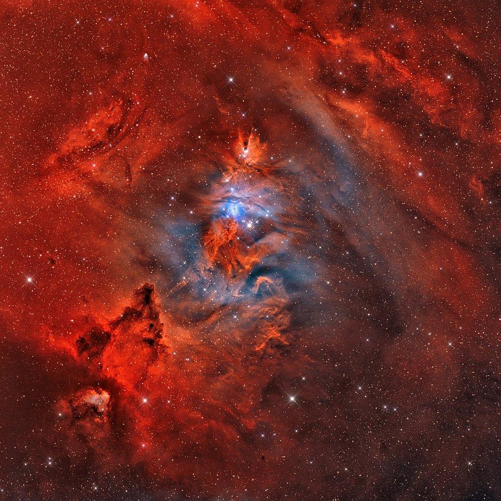 Образование новых звезд в созвездии Единорога