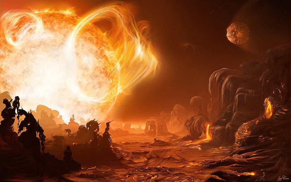 Опасный рассвет на Gliese 876d