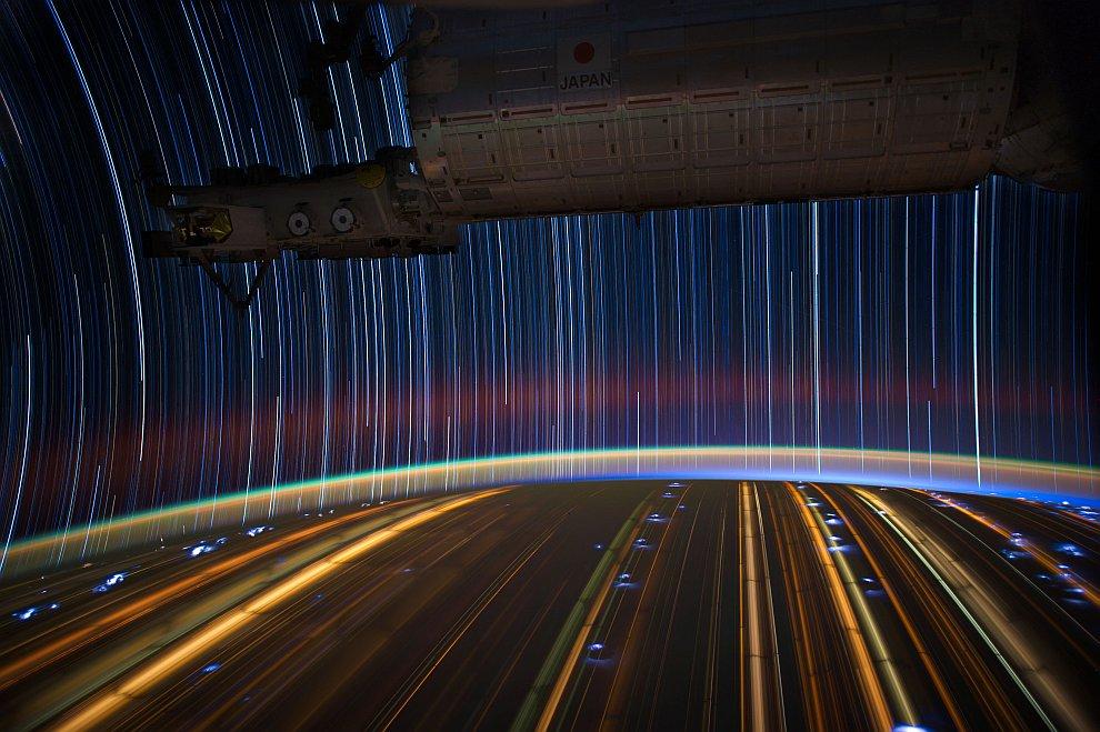 Звездные треки с Международной космической станции