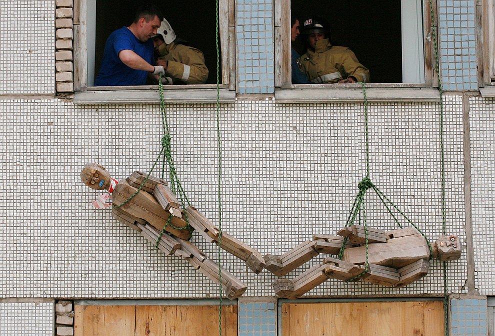 Учения спасателей в Красноярске