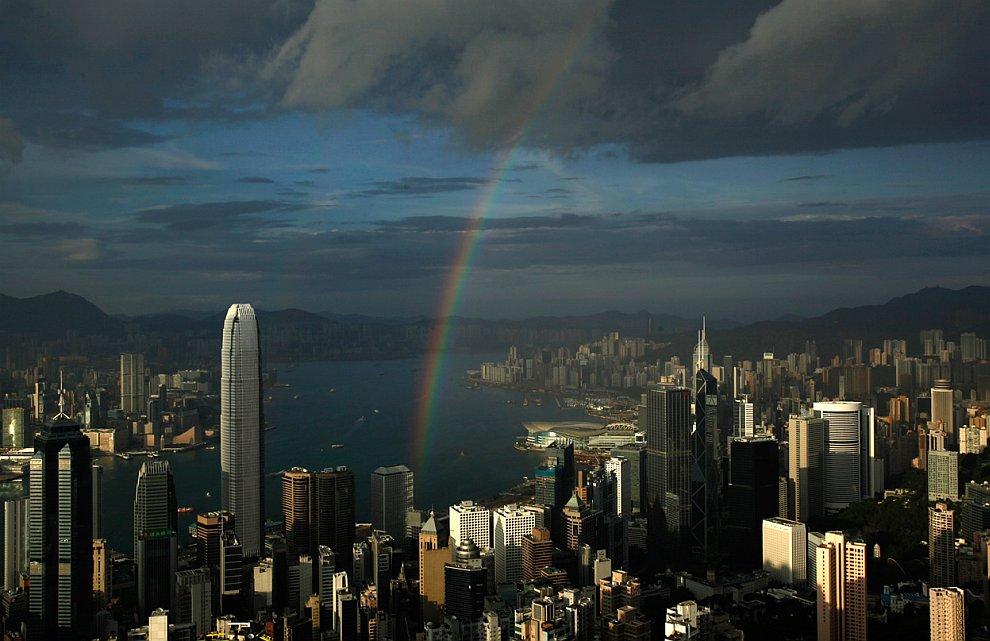 Залив Виктория в Гонконге