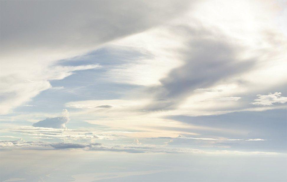 Фотографии облаков на высоте 6 000 метров