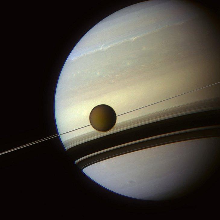 Снимок газового гиганта — Сатурна