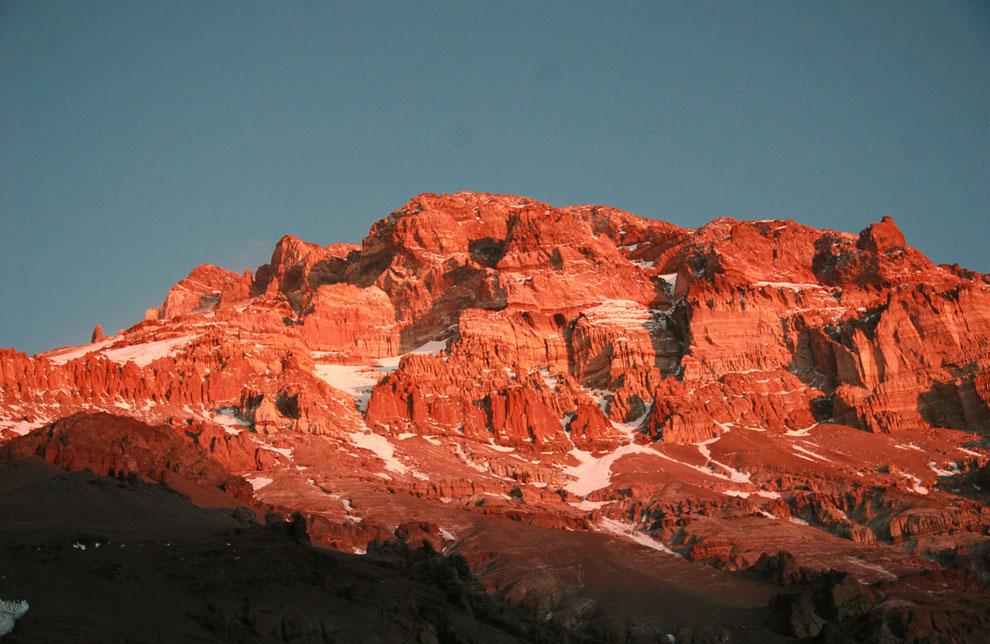 Южная Америка — гора Аконкагуа, 6962 м