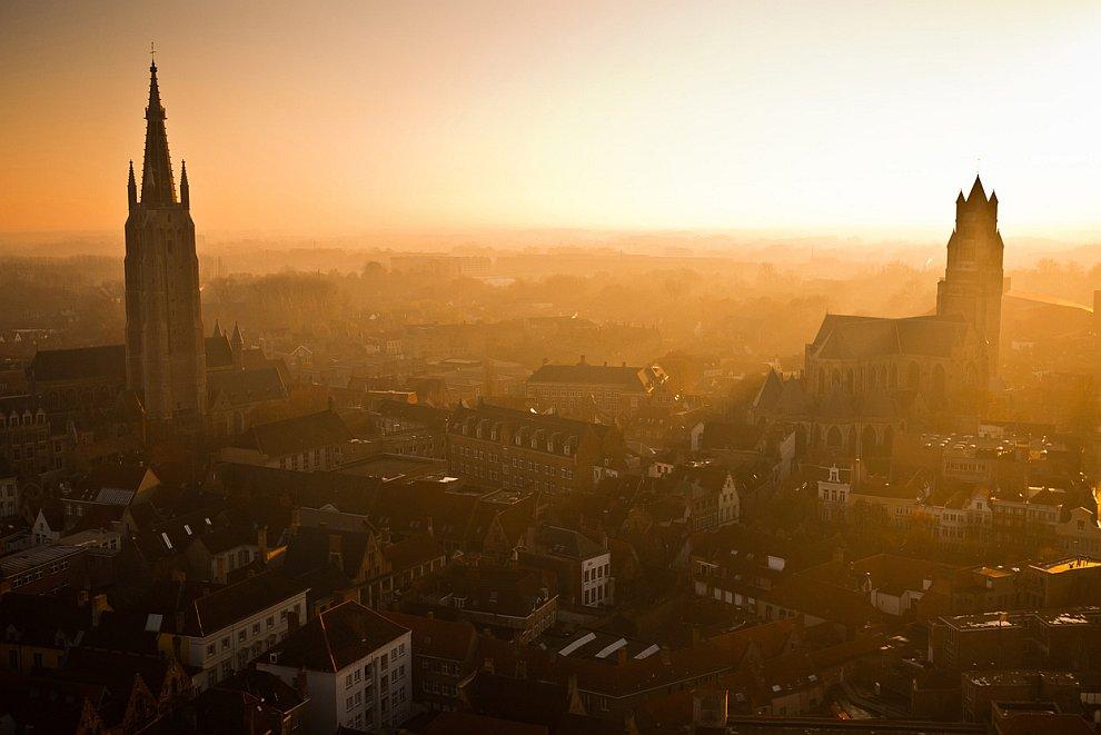 Закат над Брюггом
