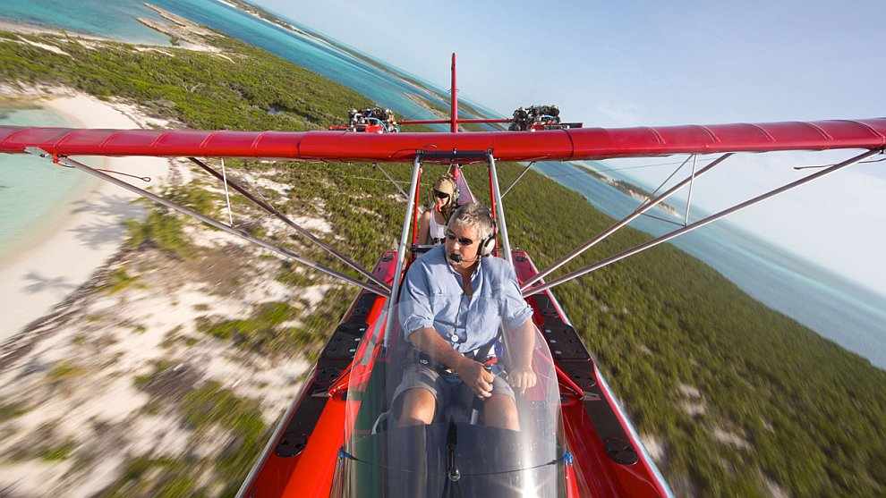 Полет над Багамскими островами