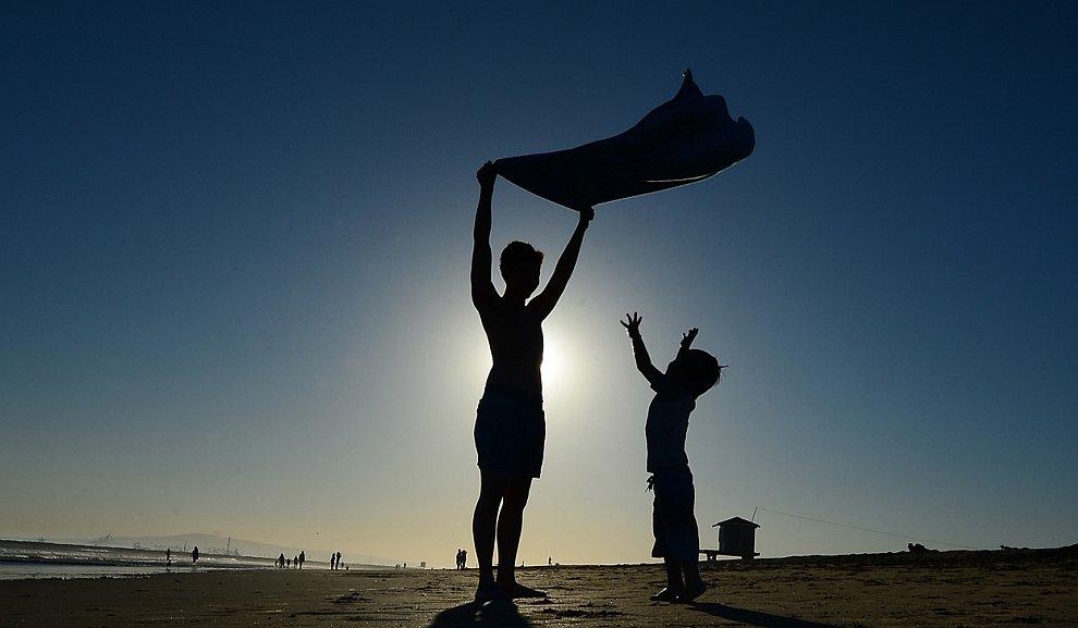 На пляже в Калифорнии