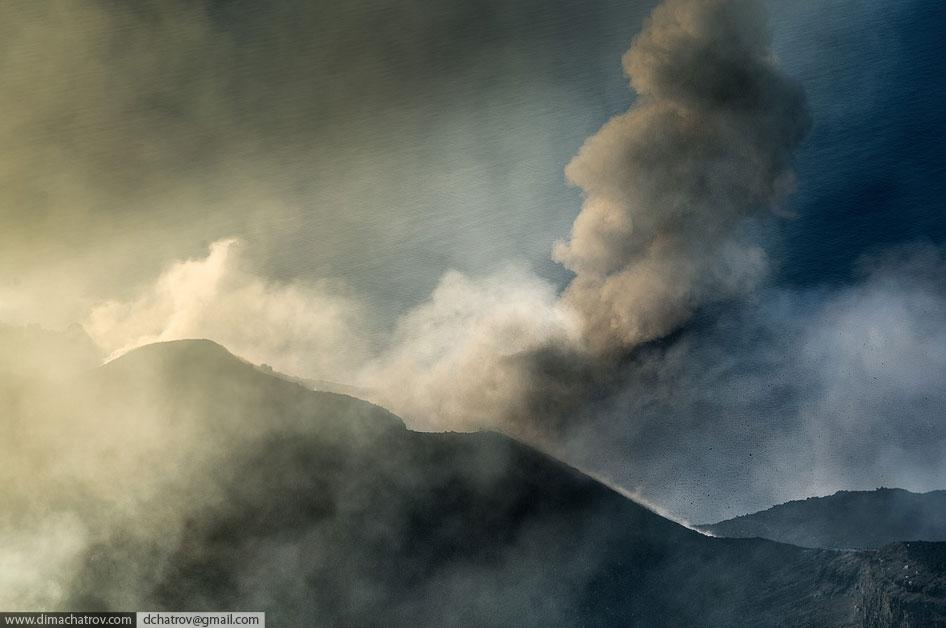 Извержения вулкана Стромболи