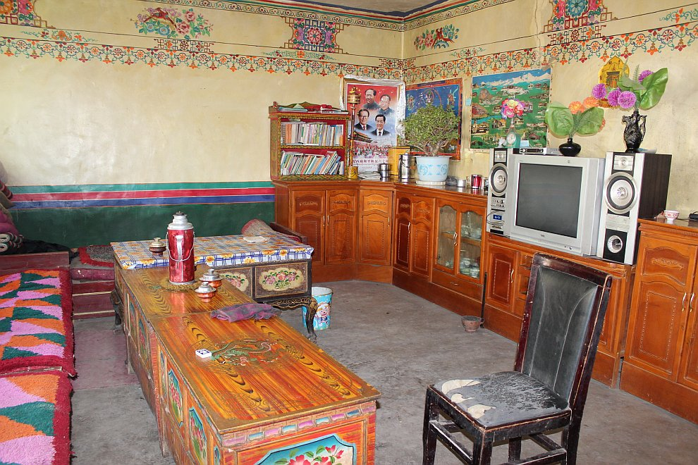 Гостиная в тибетском доме