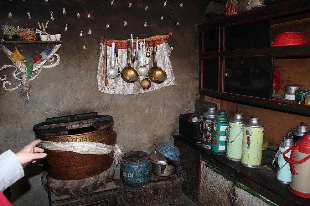 Кухня тибетской семьи