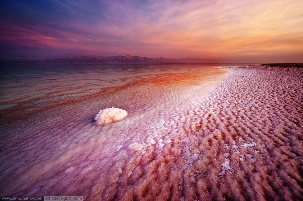 Закат на Мертвом море, Израиль