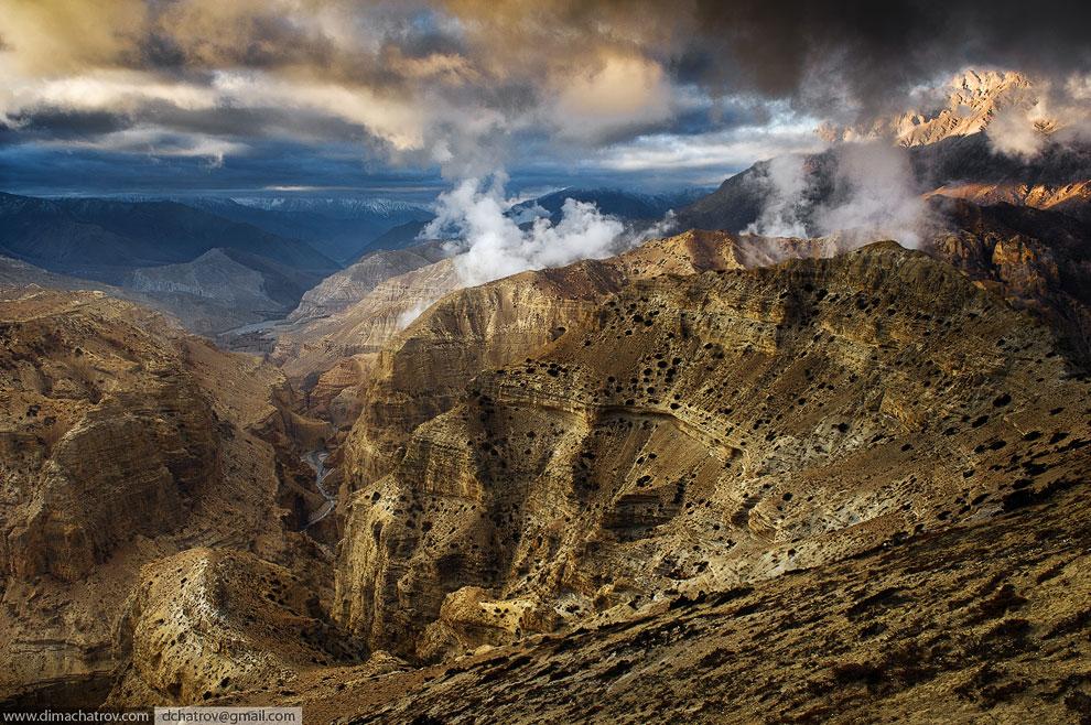Рассвет на Тибетском плато
