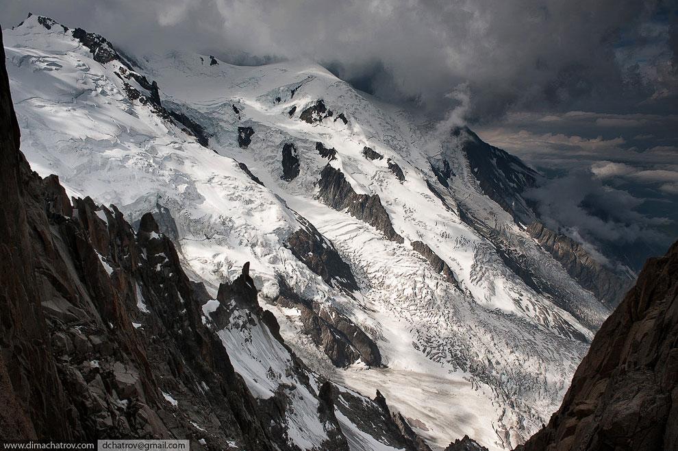 Вид на ледник Монблана