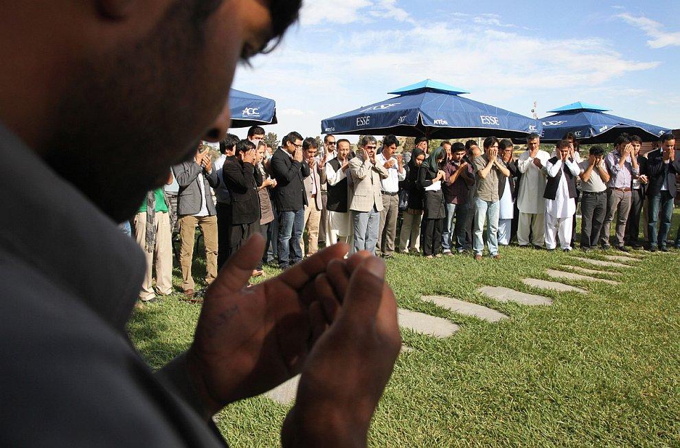 Прощальная церемония к северу от Кабула