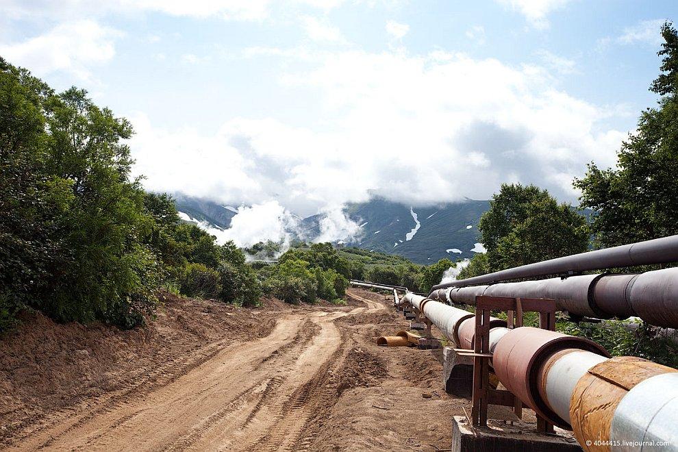 Геотермальная электростанция на Камчатке