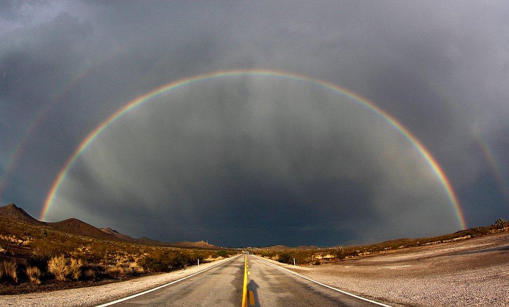 Двойная радуга в Неваде
