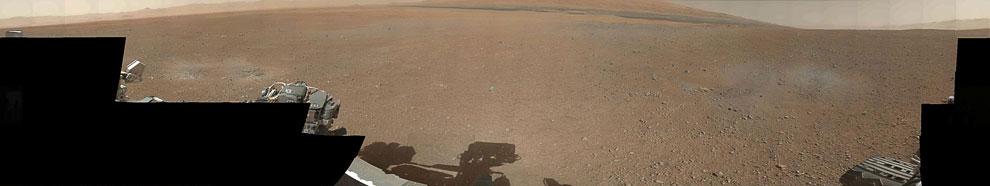 Это место, куда приземлился марсоход Curiosity — кратер Гейла
