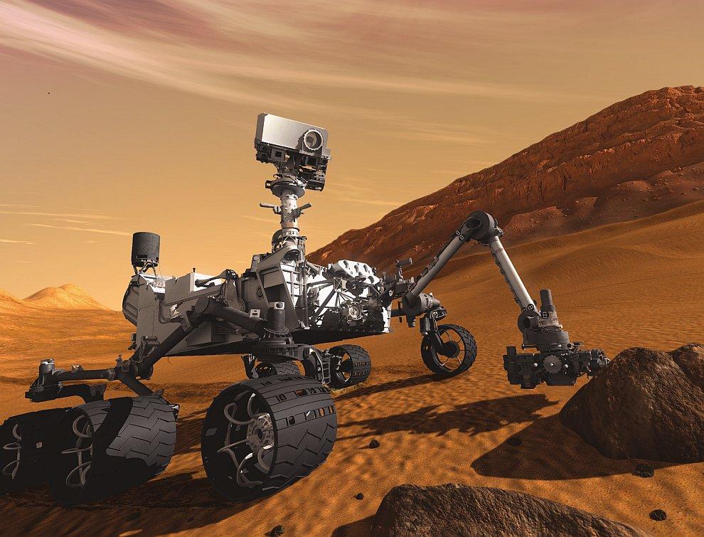 «Любопытный» марсоход весит почти тонну и имеет размеры 3 метра в длину