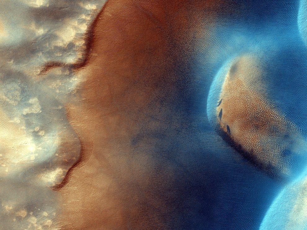 Песчаные дюны Красной планеты