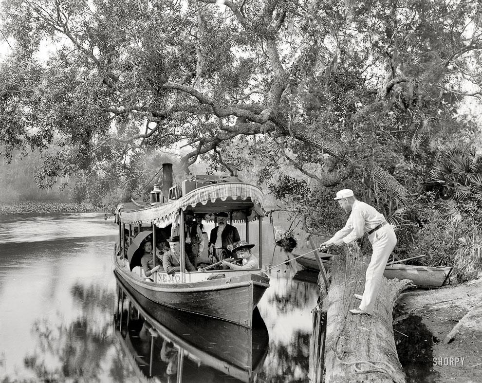 Прогулочная лодка во Флориде, 1900 год