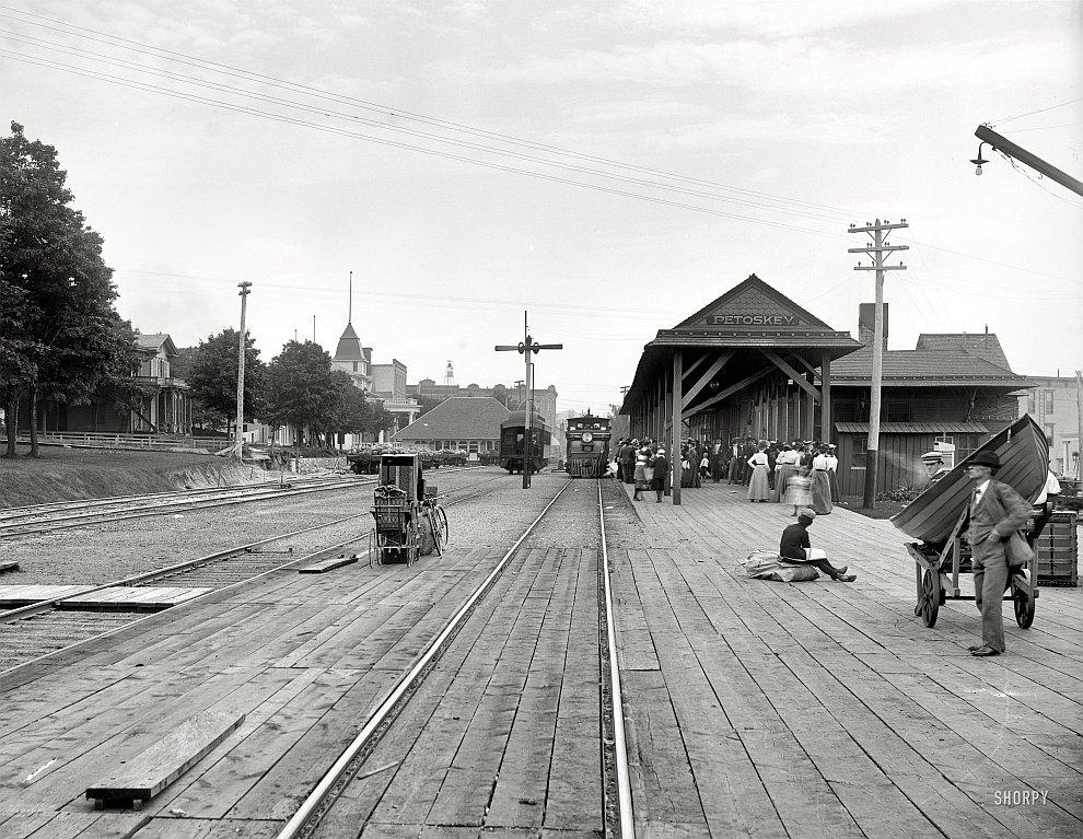 Вокзал в штате Мичиган, 1901 год