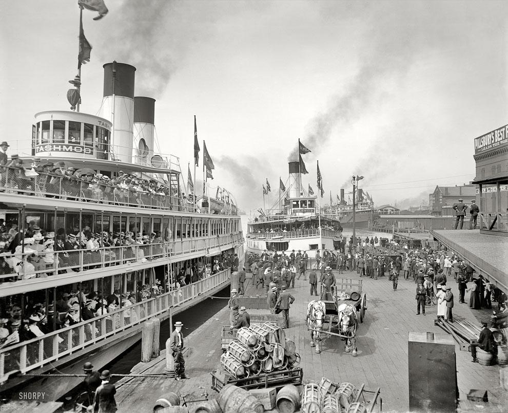 Речпорт в Детройте, 1901 год