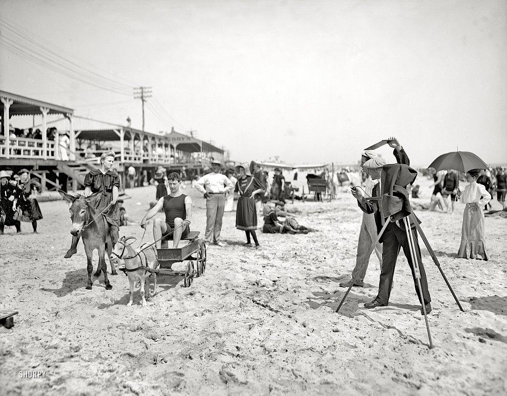 На пляже во Флориде, 1905 год