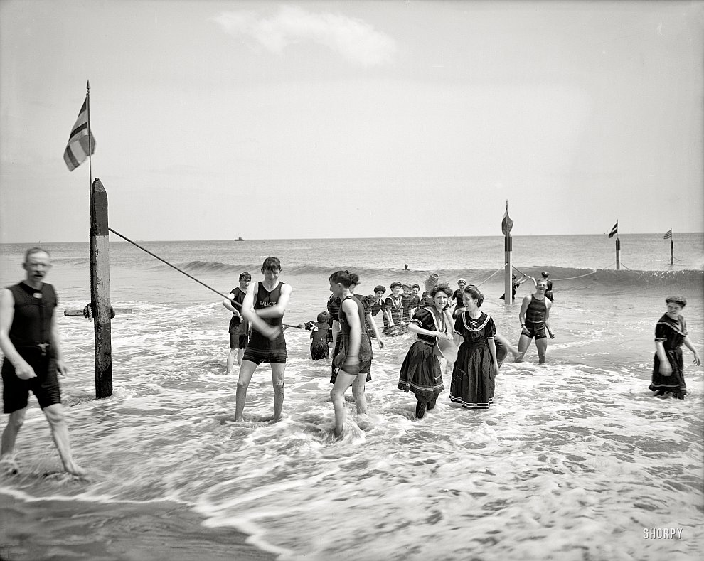 Купальщики в Нью-Йорке, 1905 год