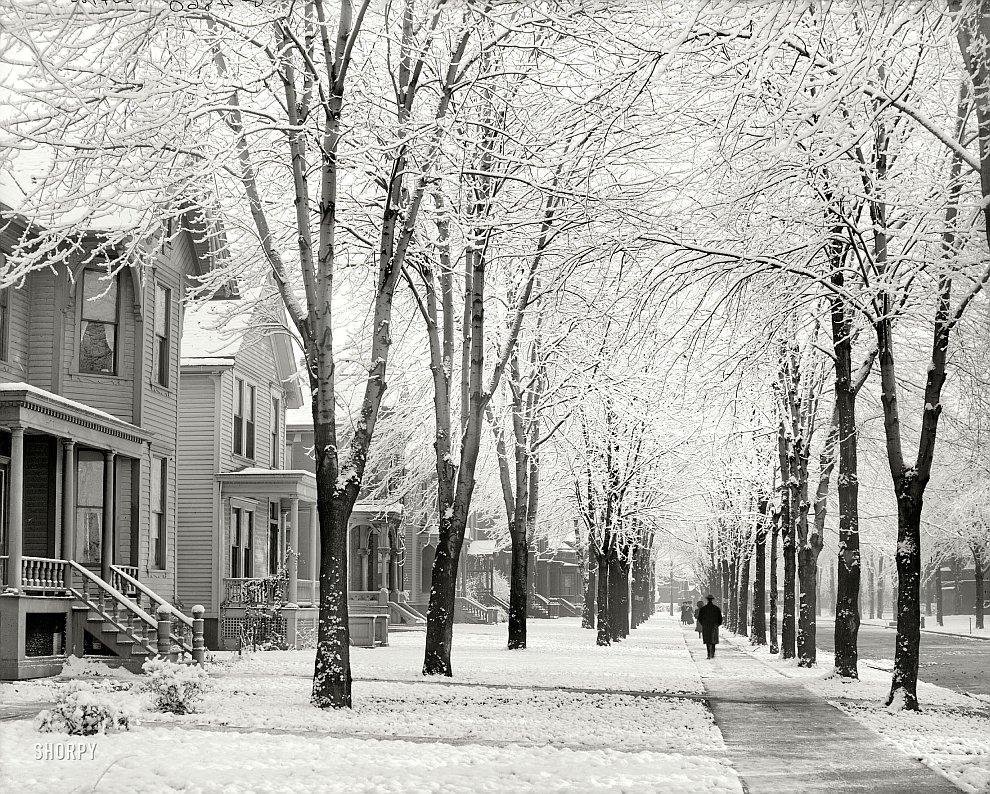 Зимнее утро в Детройте, 1905 год