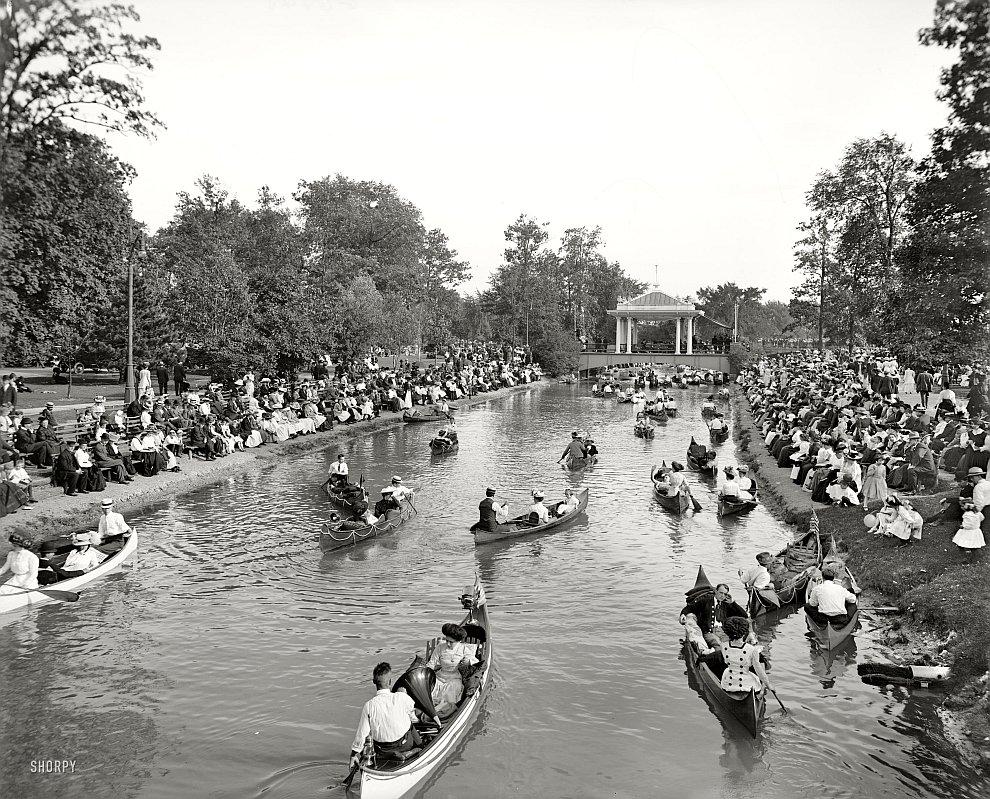 Концерт на Большом канале в Детройте, 1907 год