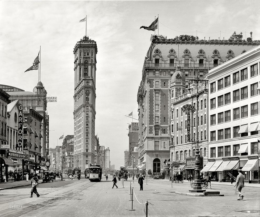Нью-Йорк, площадь Таймс-сквер, 1908 год