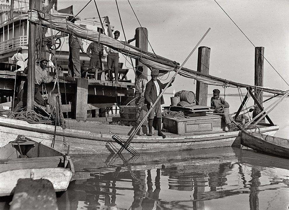 Рыбаки. Штат Флорида, 1909 год