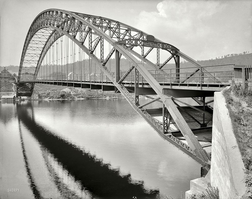 Арочный мост в штате Вермонт, 1909 год