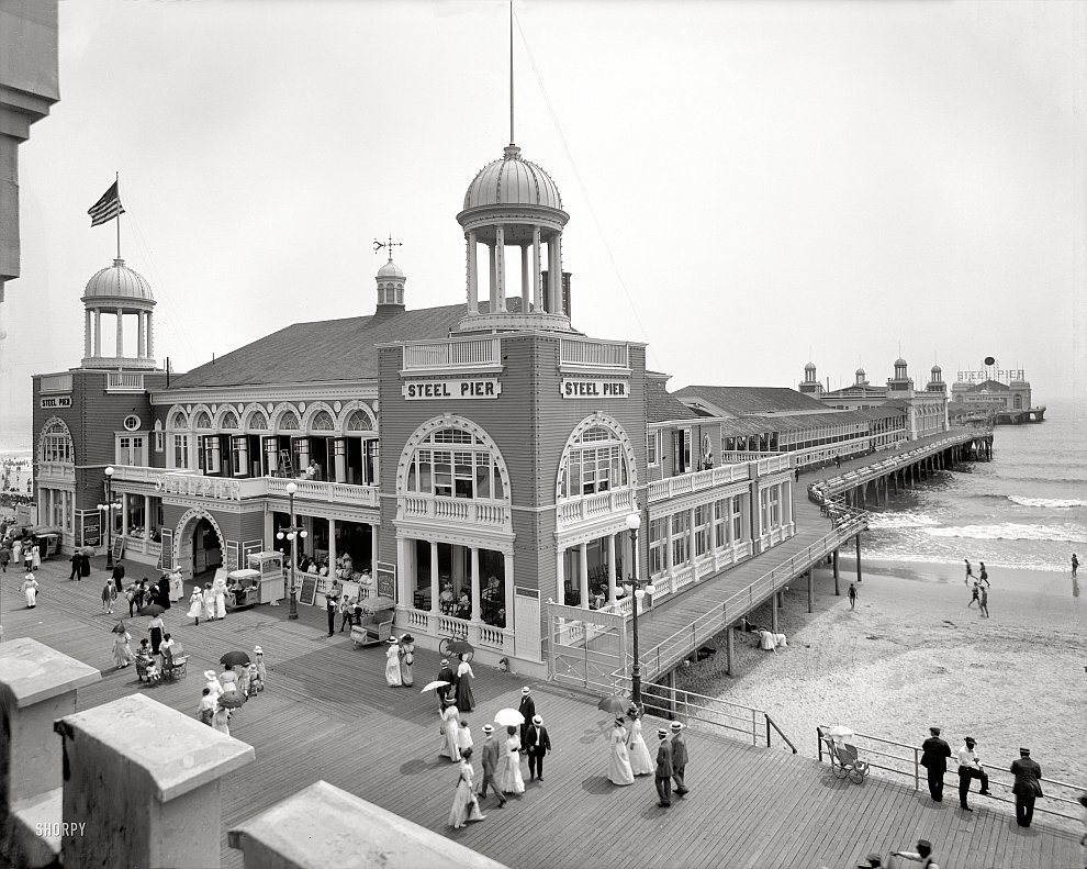 Пирс в Атлантик-Сити, Нью-Джерси, 1910 год