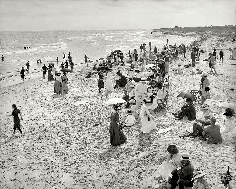 На пляже во Флориде, 1910 год