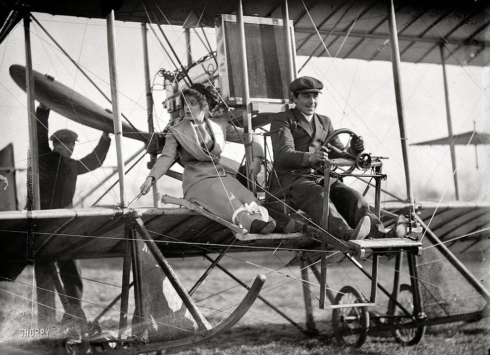На аэроплане, штат Вашингтон, 1911 год