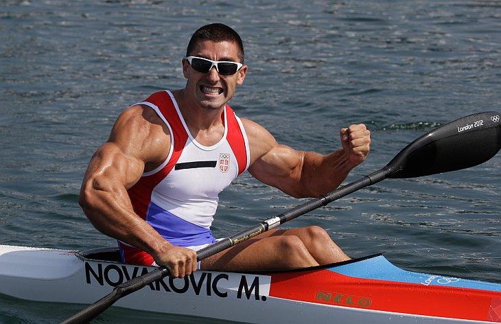 Серб Марко Новакович после полуфинала в гребле на байдарках