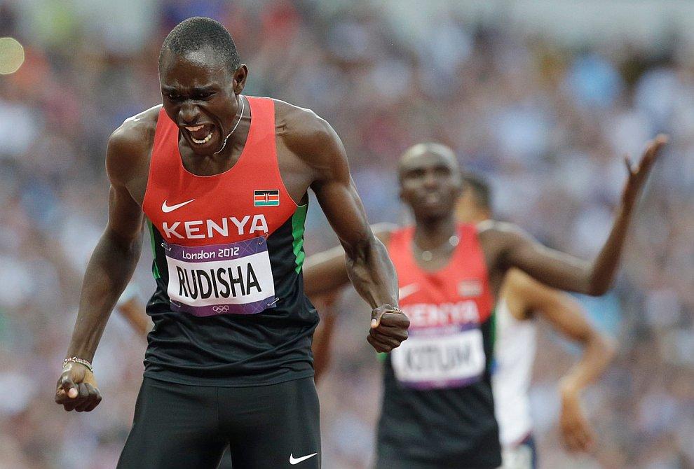 Дэвид Лекута Рудиш — кенийский бегун на средние дистанции. Действующий рекордсмен мира на дистанции 800 метров. Празднует победу в полуфинальном забеге на 800 метров
