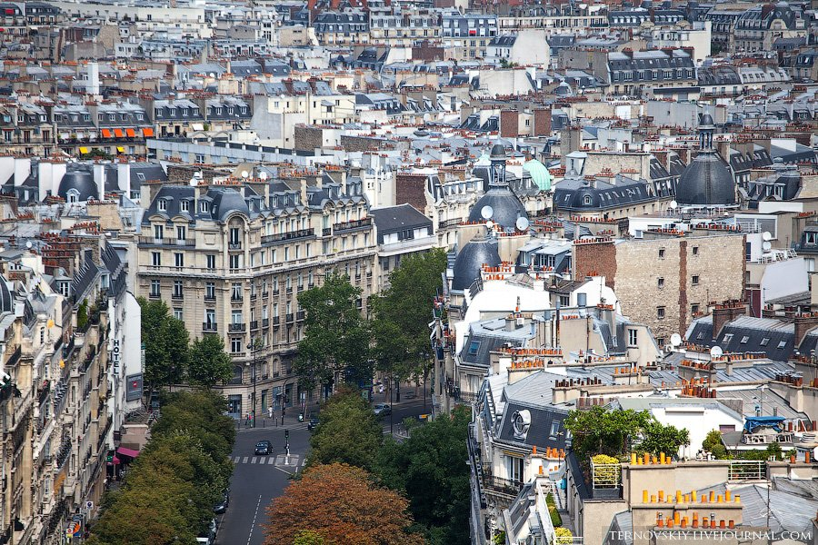 Типичная парижская архитектура