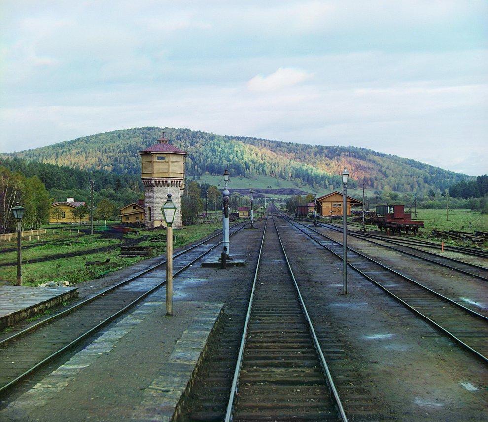 У станции Симская Самаро-Златоустовской железной дороги, 1909 год