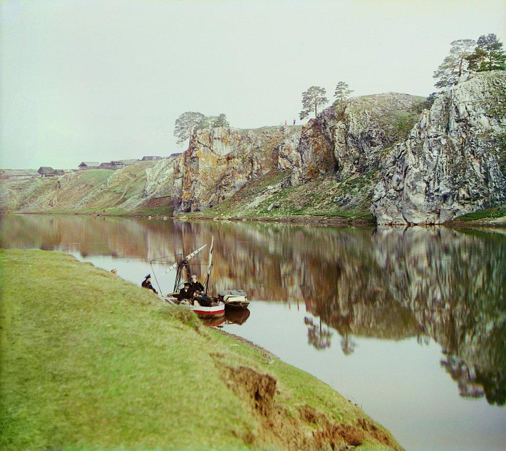Свердловская область. Верхний «Георгиевский» камень. Река Чусовая, 1912 год