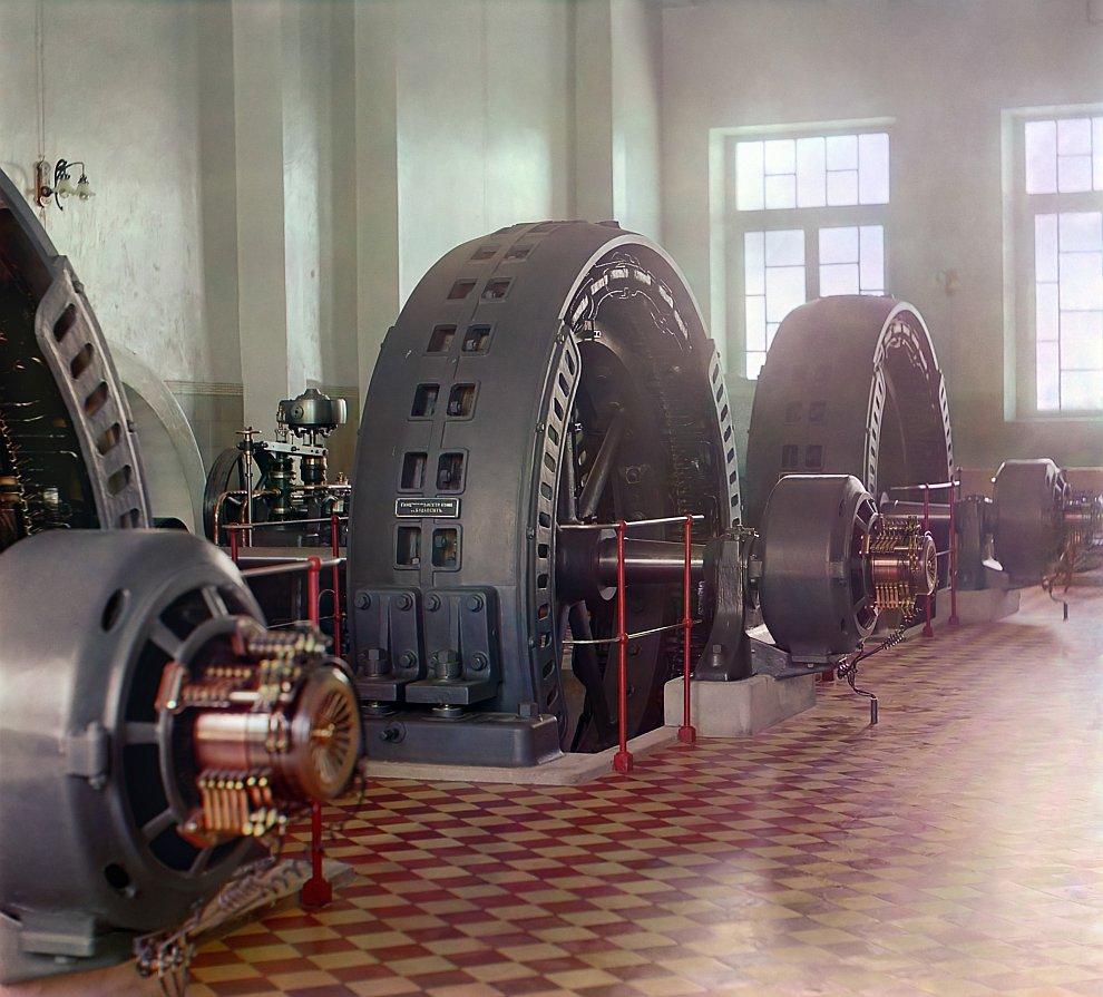 Туркменистан. Внутренний вид электрической станции в Гундукуше. Мургабское имение, 1915 год