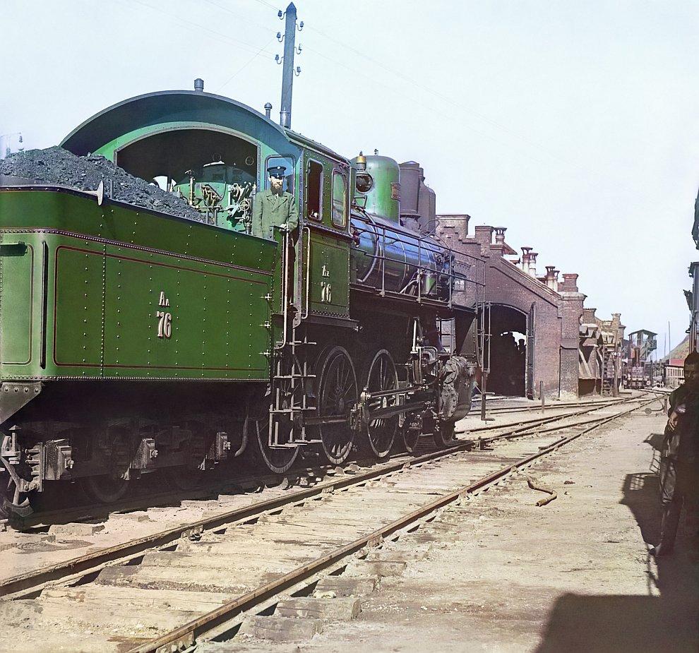 Пермский край. Паровоз «Компаунд» с пароперегревателем Шмидта, 1915 год